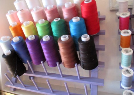 Serger thread storage