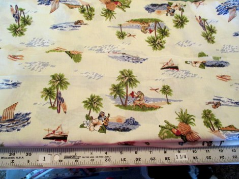 Hawaiian print cotton broadcloth