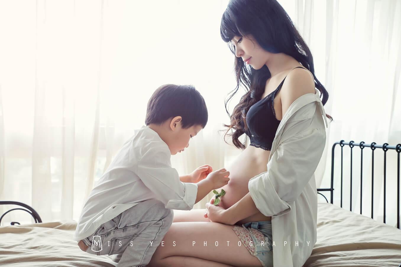 孕婦寫真,女攝影師,孕媽咪,大寶,全家福