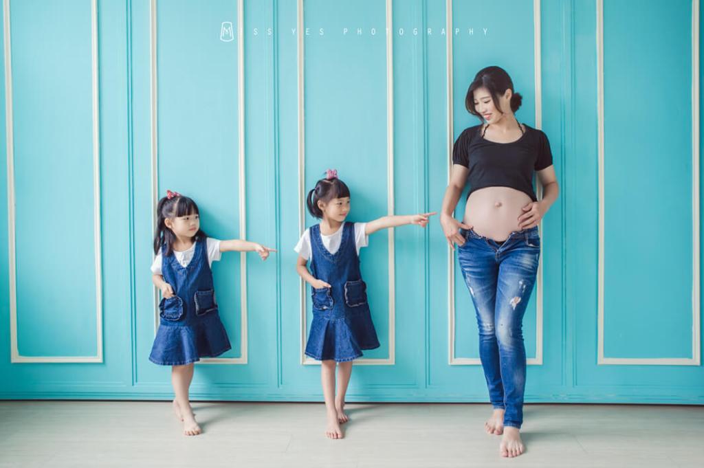孕婦寫真,女攝影師,姐妹,大寶,雙胞胎