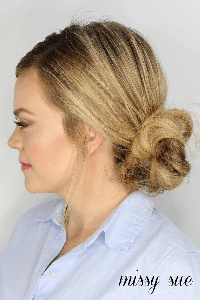 how to make a messy side bun step by step
