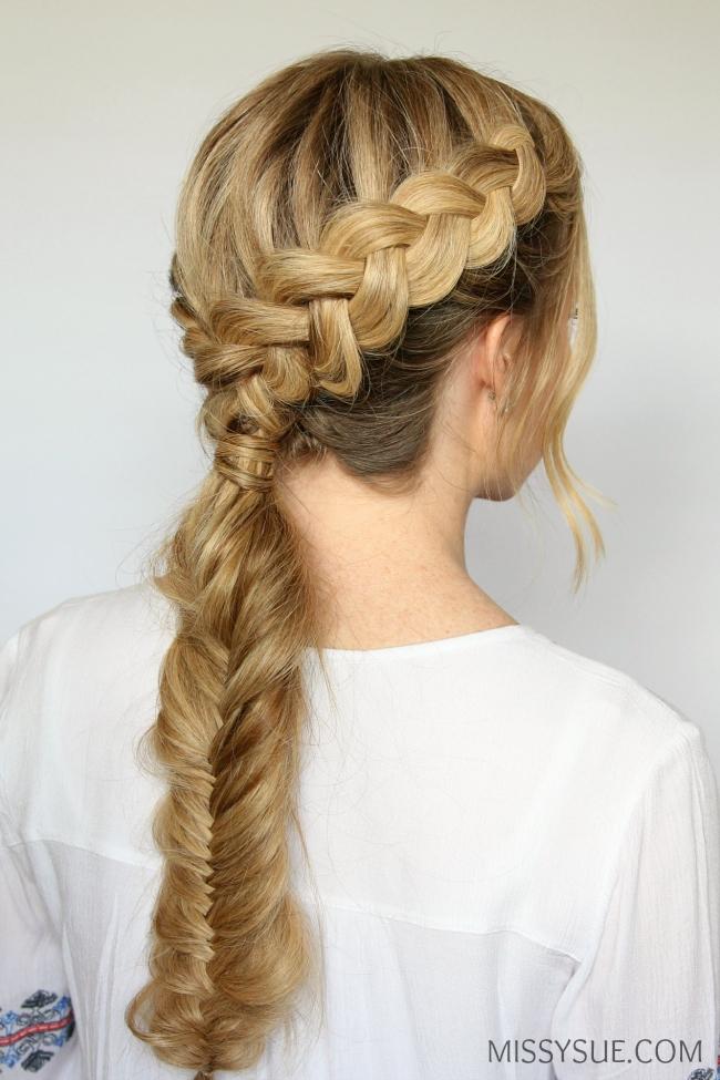 dutch fishtail braid hairstyle hair tutorial youtube ...