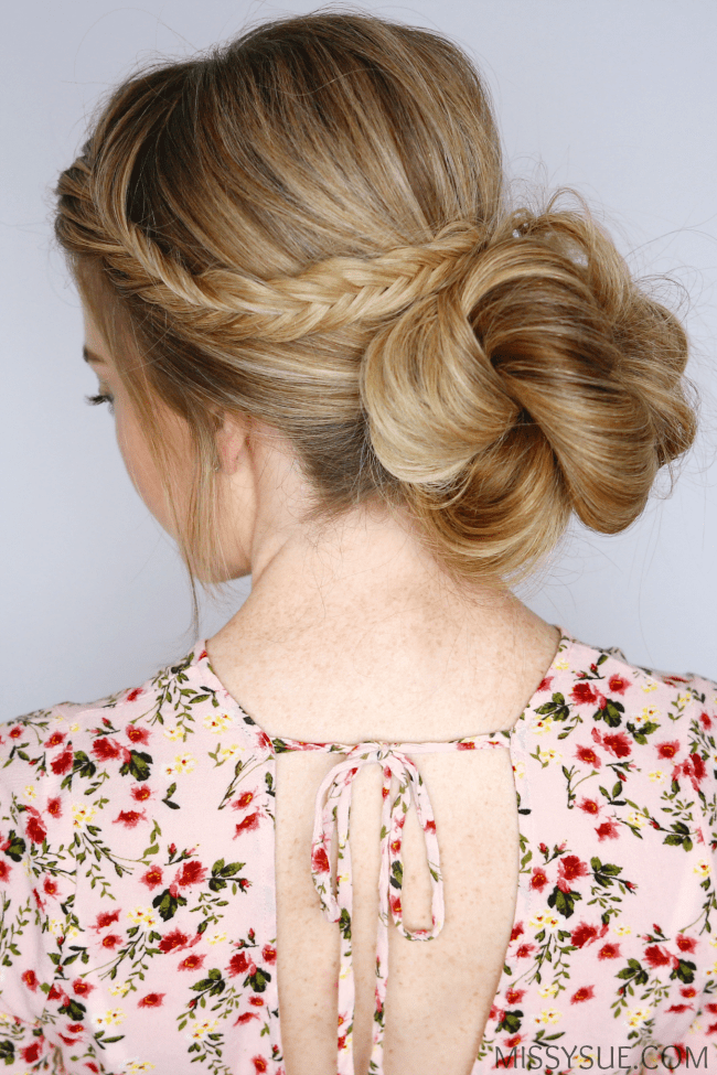 fishtail-braid-low-bun-hairstyles