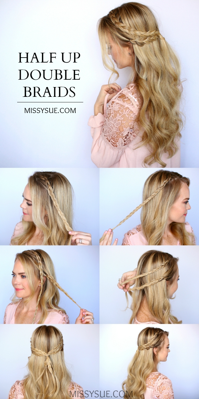 half-up-double-braids