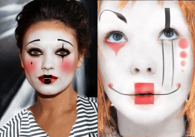 Maquiagem fantasia palhaço triste