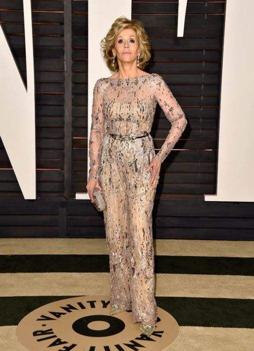 jane fonda vestido after party oscar 2015