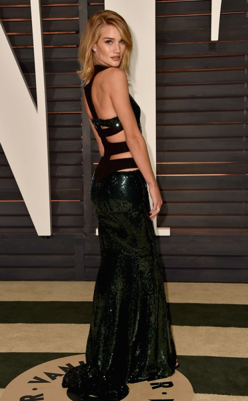 Rosie Huntington vestido after party oscar 2015