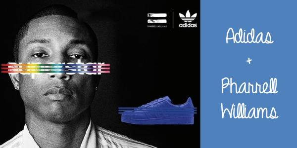 Adidas e Pharrell Williams parceria tênis supercolor