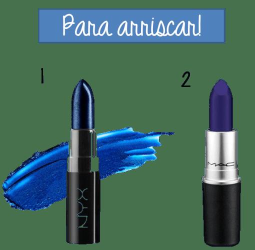 Batom azul mac nyx