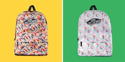 Vans e Disney parceria mochilas princesas