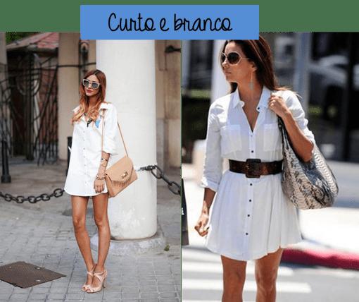 shirtdress vestido camisa branco