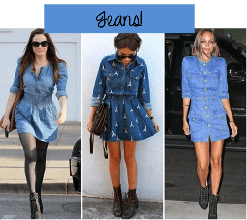 shirtdress vestido camisa jeans
