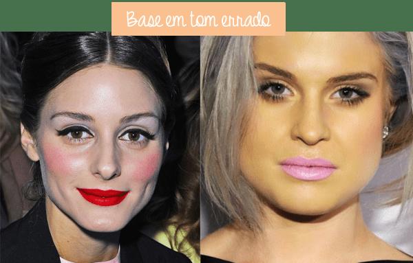 os piores erros de maquiagem base tom errado