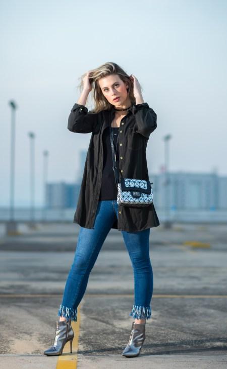 Look do dia Mel Campo Cropped jeans desfiado (1)