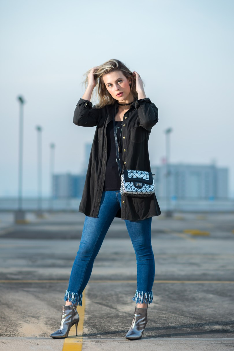 Look do dia Mel Campo Cropped jeans desfiado (1)