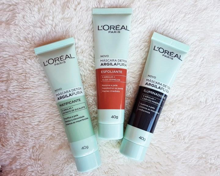 Resenha máscaras detox de argila pura l'oréal 2