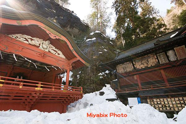 榛名神社,冬,雪