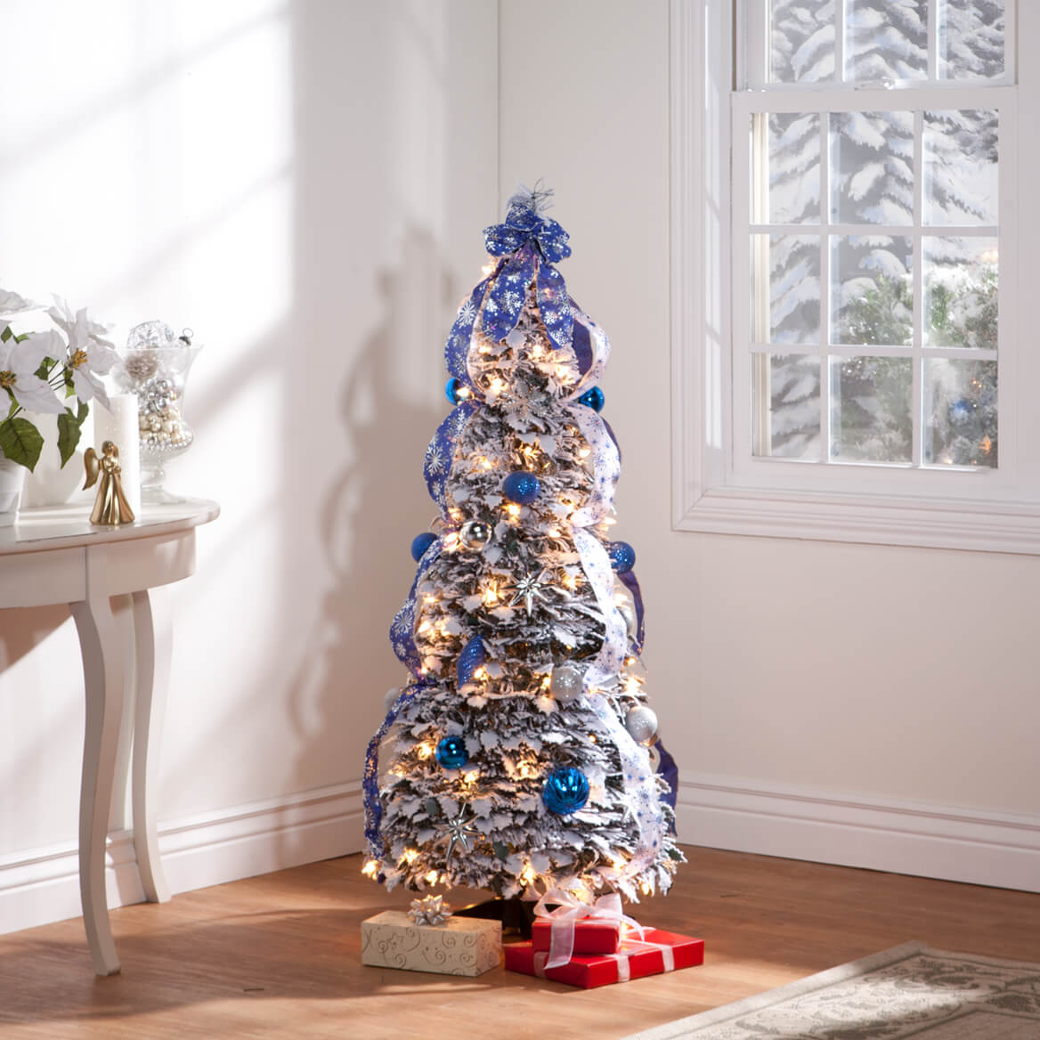 Indoor Read Reviews Write A Review Read Fully Decorated Flocked Tree Miles Kimball 4 Foot Tree Amazon 4 Foot Tree Skirt houzz 01 4 Foot Christmas Tree