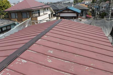 トタン屋根の劣化