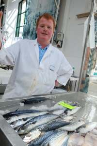Paul the fish monger likes the mackerel