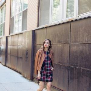plaid_dress_leather_jacket_1