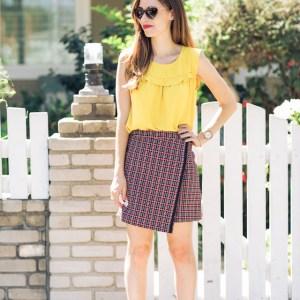 mustard_blouse_tweed_skirt_1