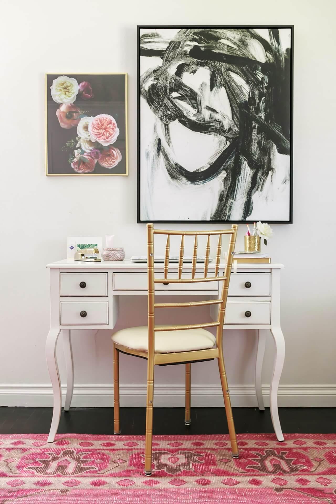 feminine home office design