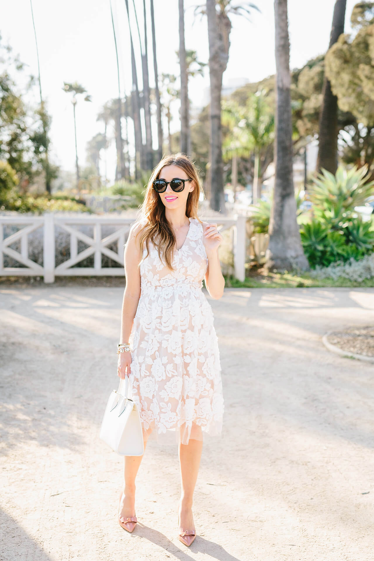 a feminine dress outfit for spring