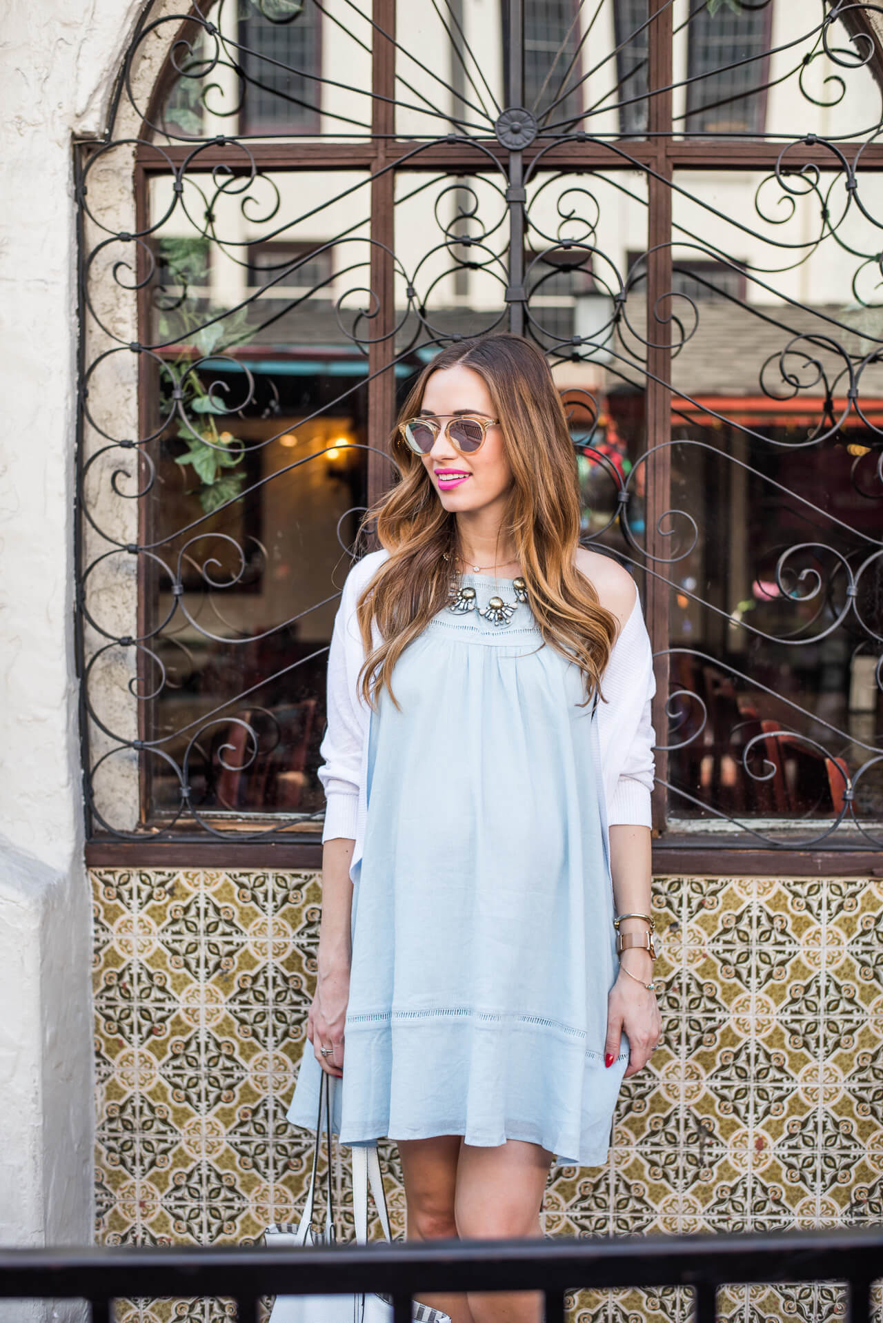 light blue sundress from emily schuman's cupcakes and cashmere collection at nordstrom and shopbop