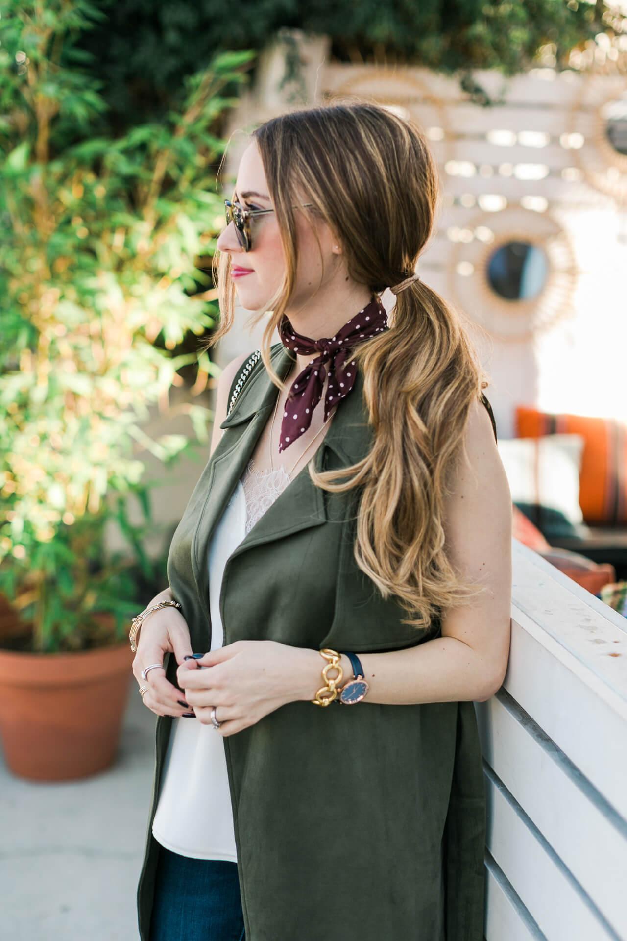 styling a polka dot necktie