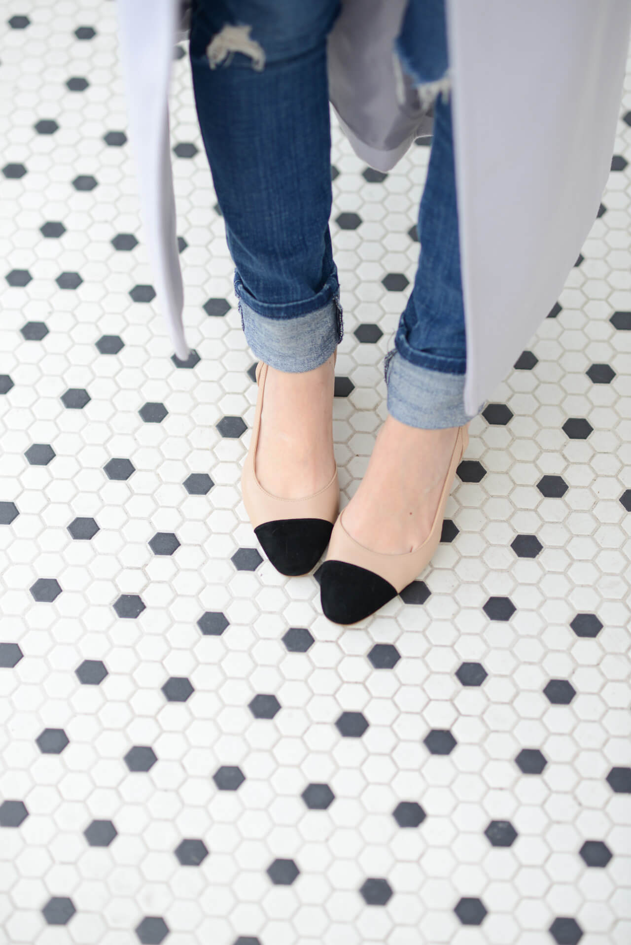 the cutest cap-toe heels that are way more affordable than the chanel ones