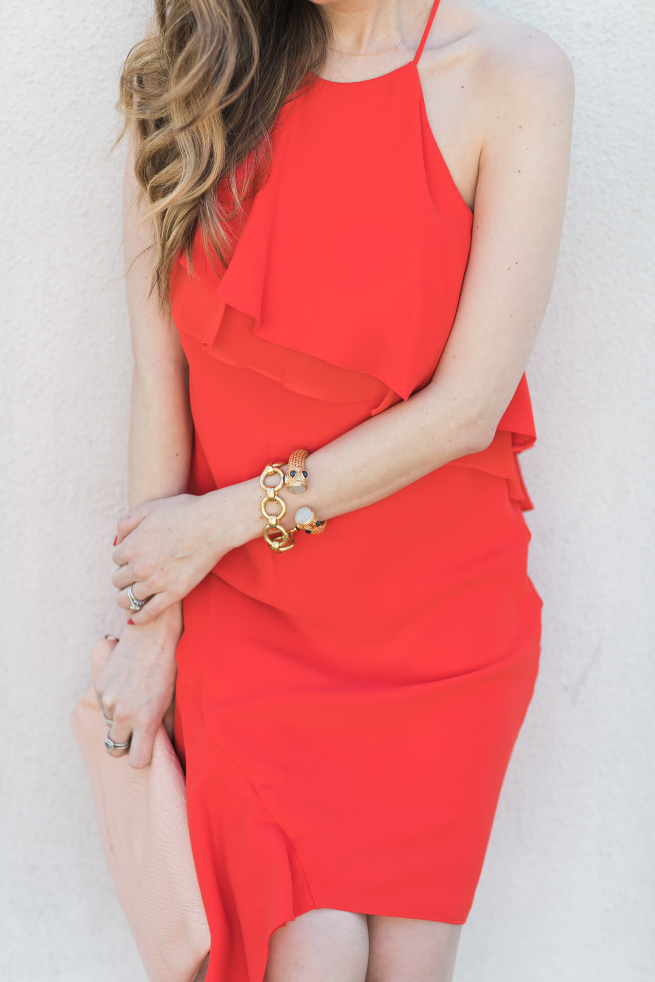 feminine red laundry by shelli segal dress