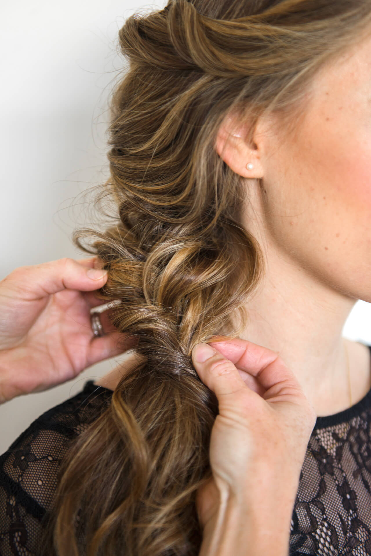 trick to achieving a messy fishtail braid