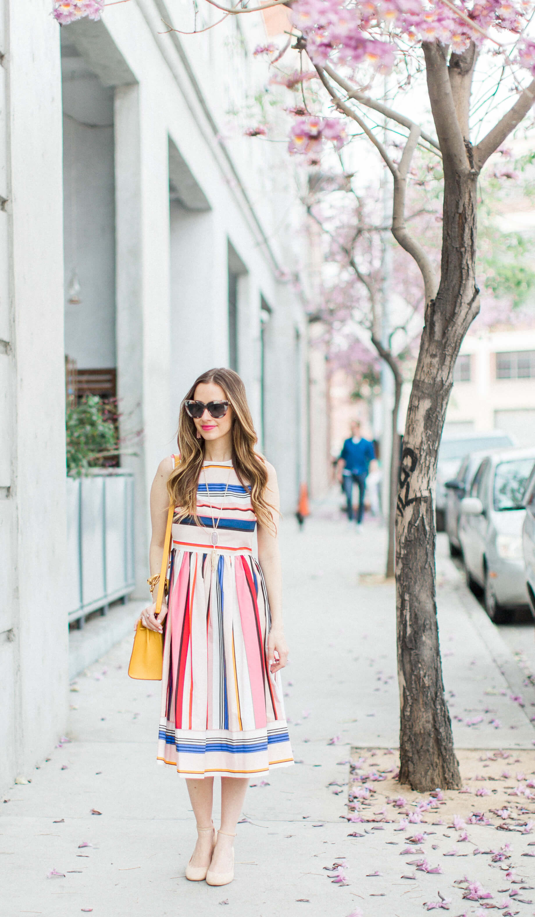 A Colorful Striped Dress for Spring