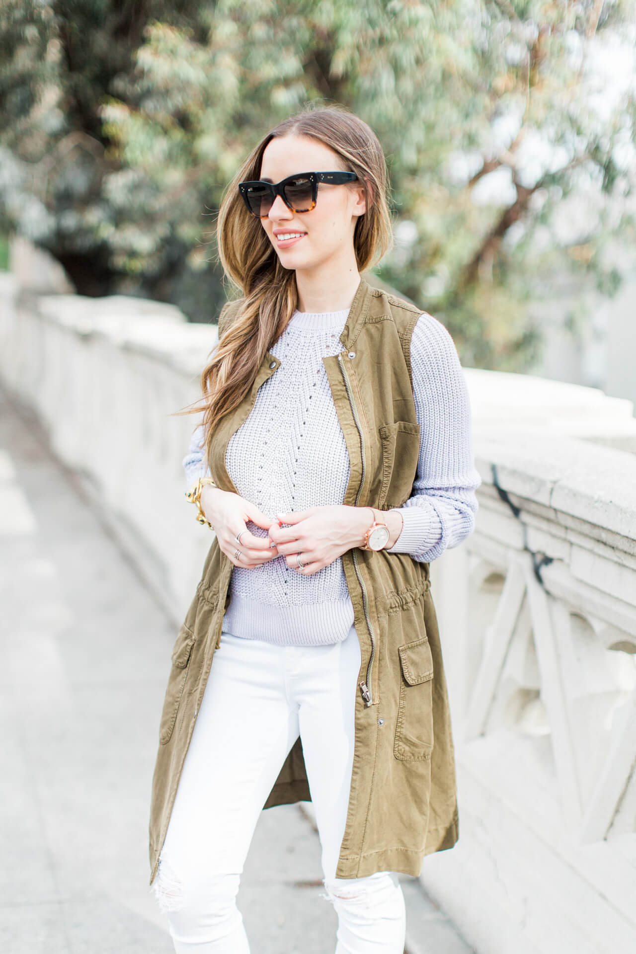 cute way to layer for spring