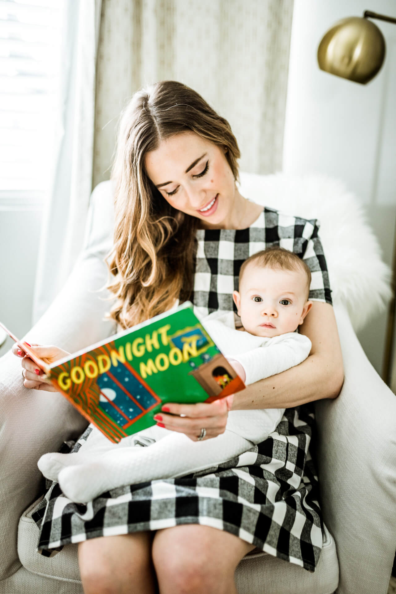 reading nighttime stories to baby