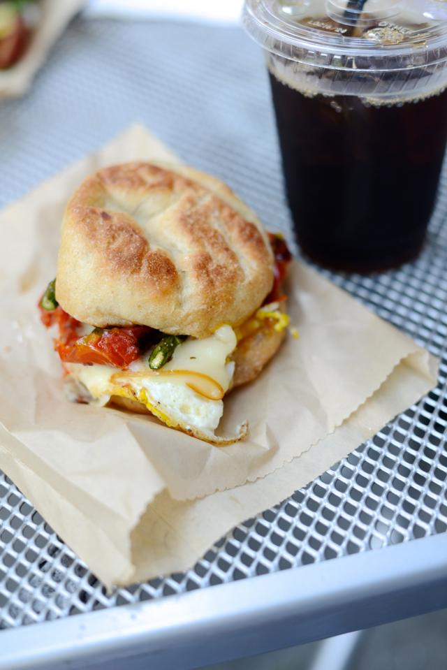 seattle travel diary breakfast sandwich from dahlia bakery M Loves M @marmar
