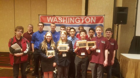 MTHS student delegation, 2016 WTSA State Conference