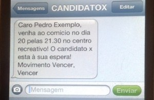 exemplo sms