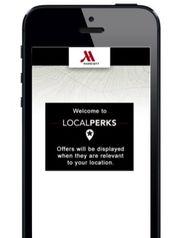 A app dos hotéis Marriott envia descontos locais aos seus clientes