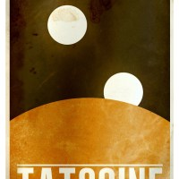 Minimalist Planet Posters from the Star Wars Galaxy