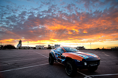 Local Motors Rally Fighter with custom IMTS 2014 wrap near the Local Motors Microfactory in Chandler ...