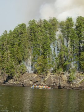 pagami canoeing to fire