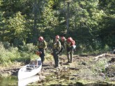 pagami creek firefighters by canoe