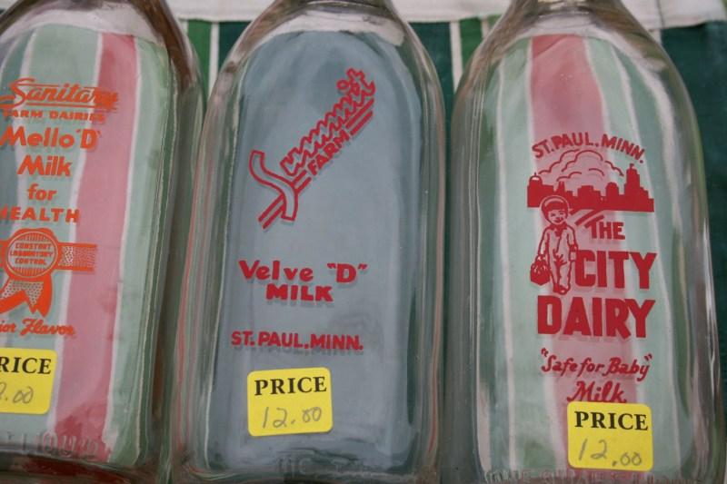 Large Of Vintage Milk Bottles