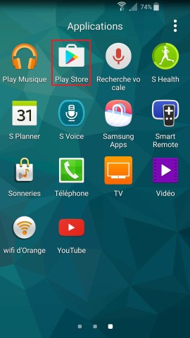 Applications Samsung android 5 playstore
