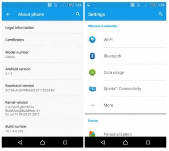 Android 5.1.1 (Lollipop) update to Xperia ZR