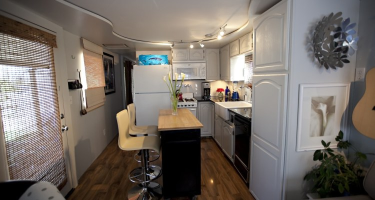 vintage mobile home remodel