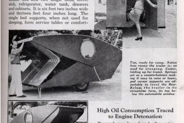 vintage mobile folding house