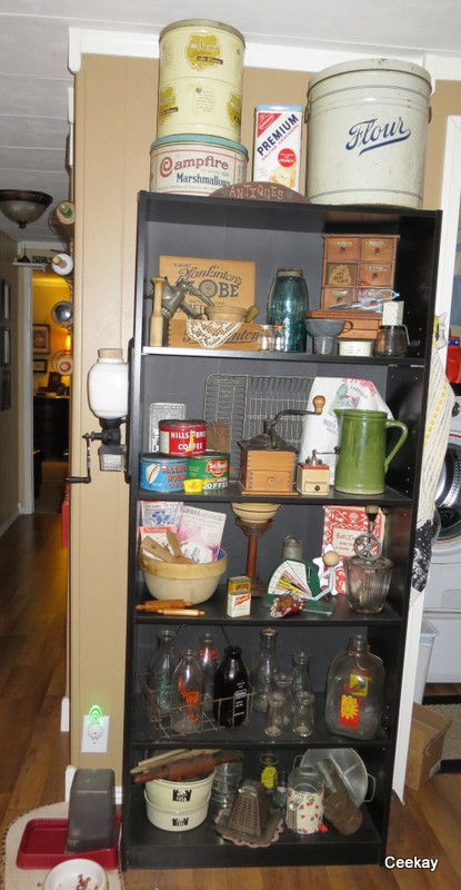 Kitchen Cabinetry Shelving in a Double wide manufactured home